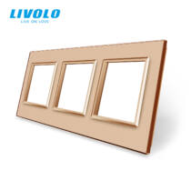 Livolo hármas sorolókeret 3x dugaljhoz-konnektorhoz-csatlakozó aljathoz, arany